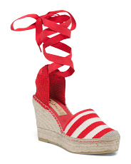 Made In Spain Canvas Wedge Espadrilles