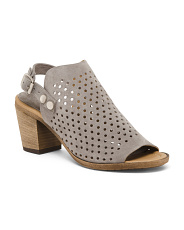 Made In Italy Suede Perforated Shooties