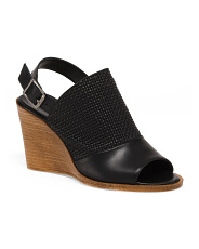 Made In Italy Woven Leather Wedges