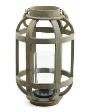 Wooden Lantern With Rope