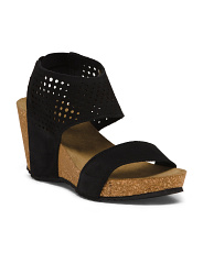 Made In Italy Wedge Suede Sandals