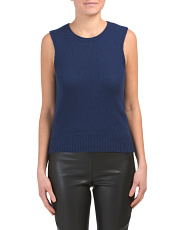 Made In Italy Cashmere Sleeveless Sweater