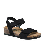 Made In Italy Suede Single Strap Sandals