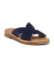 Made In Italy Crossover Suede Sandals