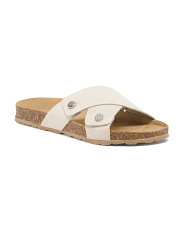 Made In Italy X-band Suede Sandals