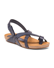Made In Spain Leather Comfort Footbed Sandals