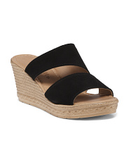 Made In Italy Asymmetrical Suede Sandals