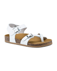 Made In Italy Molded Leather Sandals