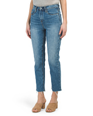 High Rise Straight Leg Crop Jeans