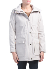 Softshell Anorak Jacket With Patch Pockets