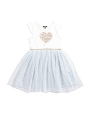 Little Girls Heart Tutu Dress