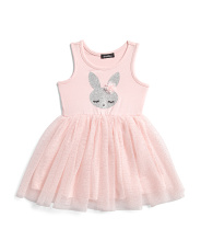 Toddler Girls Glitter Bunny Tutu Dress