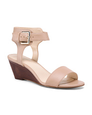 Ankle Detail Wedged Sandals