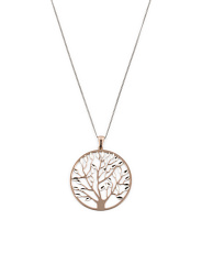 Made In Italy Two Tone Sterling Silver Tree Of Life Necklace