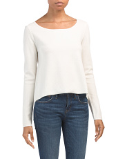 Cotton Textured Boat Neck Sweater