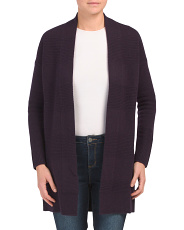 Cashmere Links Open Duster Cardigan