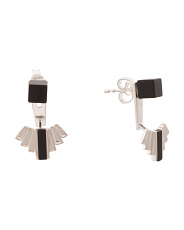 Handcrafted In Denmark Sterling Silver Aria Onyx Earrings