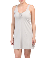 Pima Cotton With Mesh Chemise