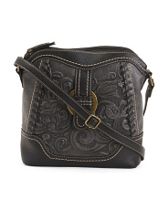 Carlston Crossbody With Tooling Scroll