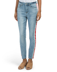 Junior Side Stripe Denim Jeans