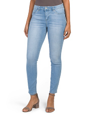Flap Pocket High Waist Skinny Jeans