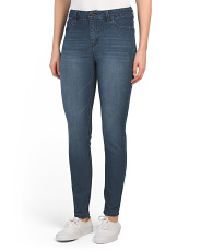 Super High Waist Rayon Skinny Jeans