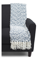 Textured Pom Throw