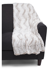 Frosted Faux Fur Throw