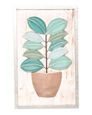 Wood & Metal Leaf Wall Art