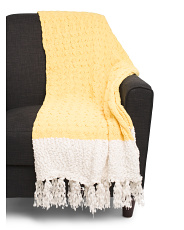 Textured Knit Chenille Throw