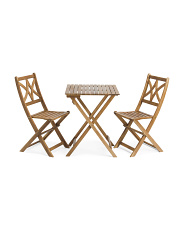 Outdoor Wood Bistro Set