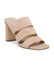 Suede Three Band High Heel Sandals