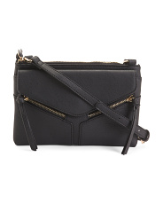 Flap Front Zipper Crossbody