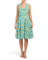 Lemon Dress With Tie Front