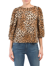 Made In Usa Leopard Print Top