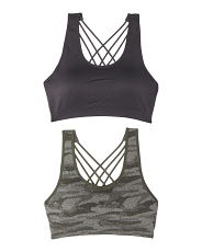 2 Pack Solid And Camo Bras