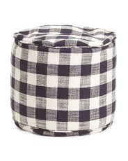 20x15 Indoor Outdoor Ginham Pouf