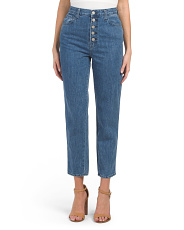 Heather High Rise Button Fly Jeans