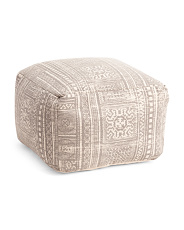 Made In India 22x14 Printed Pouf