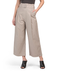 High Waisted Belted Pants