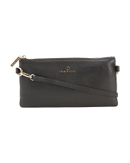 Leather Convertible Crossbody Clutch