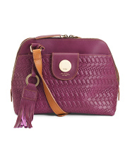 Rodeo Woven Izabella Leather Crossbody
