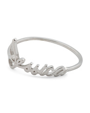 Sterling Silver Jessica Script Ring