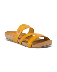 Made In Spain Leather Slide Sandals