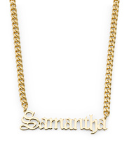 Sterling Silver Samantha Gothic Font Necklace
