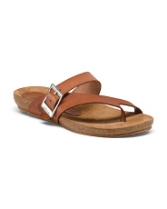Made In Spain Leather Toe Ring Sandals
