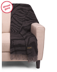 Made In Italy Cashmere Zebrage Throw