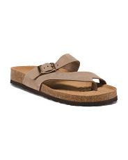 Made In Spain Flat Bed Leather Sandals