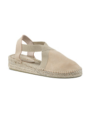 Made In Spain Open Back Suede Espadrilles