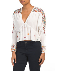 Ava Embroidery Blouse